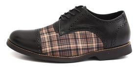 Sapato Social Masculino Tamanho Especial Oxford Vintage 6815