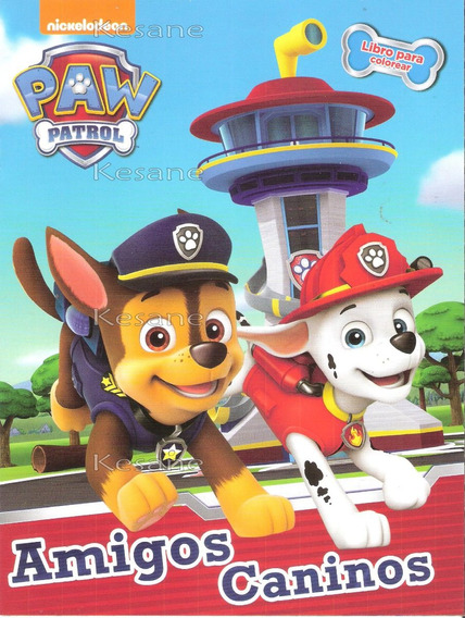 10 Libros Para Colorear Paw Patrol Amigos Caninos Iluminar