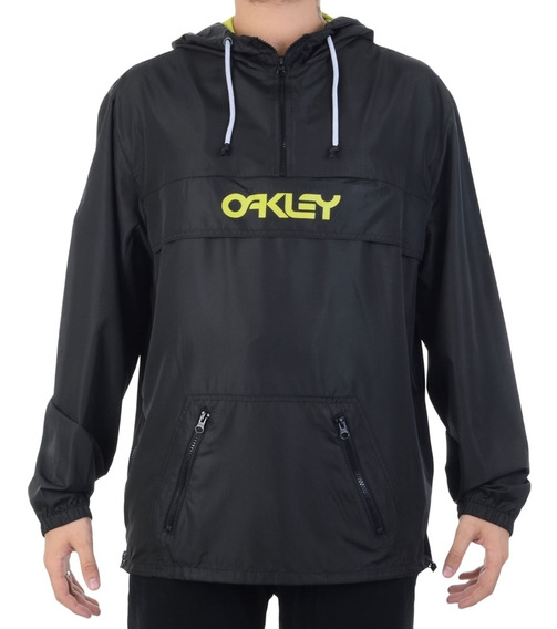 Jaqueta Oakley Corta Vento Packable Blackout Preta