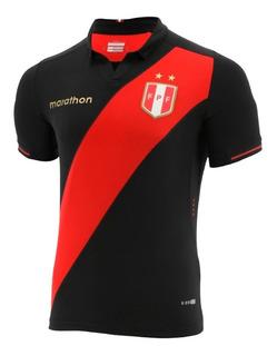 Camisa Seleção Do Peru Preta Original - Polo Linda