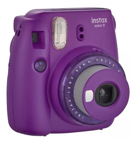 Câmera Instantânea Instax Mini 9 Fujifilm Roxa + 20 Filmes