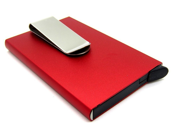 Hot Sale Tarjetero Clip Billete De Aluminio Rfid Unisex Slim