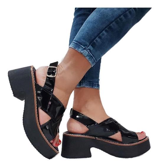 Sandalias Zapatos Mujer Plataforma Liviana Verano 68