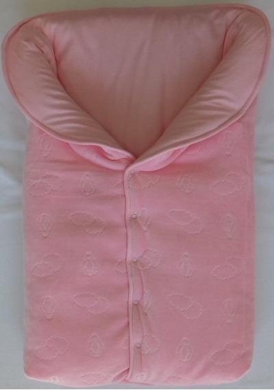 Saco Dormir Plush Decorado - Forro Suedine - Botões Pressão