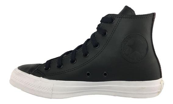 Tênis Converse All Star - Casual - Preto Couro - Ct0759