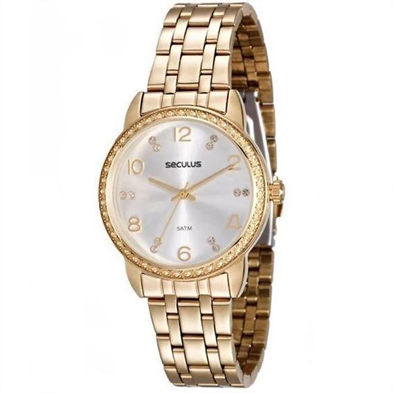 Relógio Feminino Seculus Analógico 20436lpskds2 Dourado