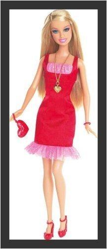 Barbie Valentine Glam 2009 En Vestido De Saten Rojo