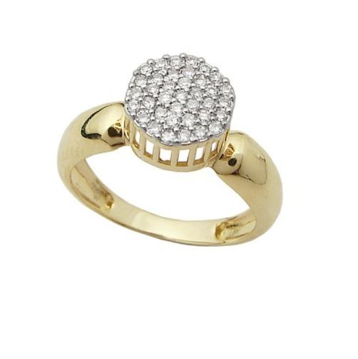 Anel Chuveiro G De Ouro 18k E Diamantes Vivarjoias O16