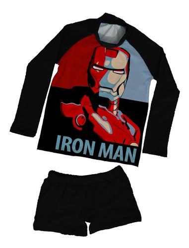 Vestido Traje De Baño Tipo Buzo De Avengers, Iron Man