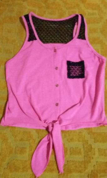 Camisa Rosa Fluo Lazo