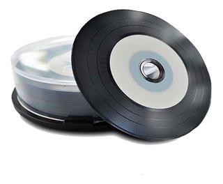 Cd-r Negro Tipo Lp Imprimible - Unidad a $1090
