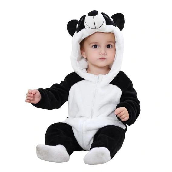 Pijama Macacão Roudinha Bichinhos Fantasia Bebe Nenem
