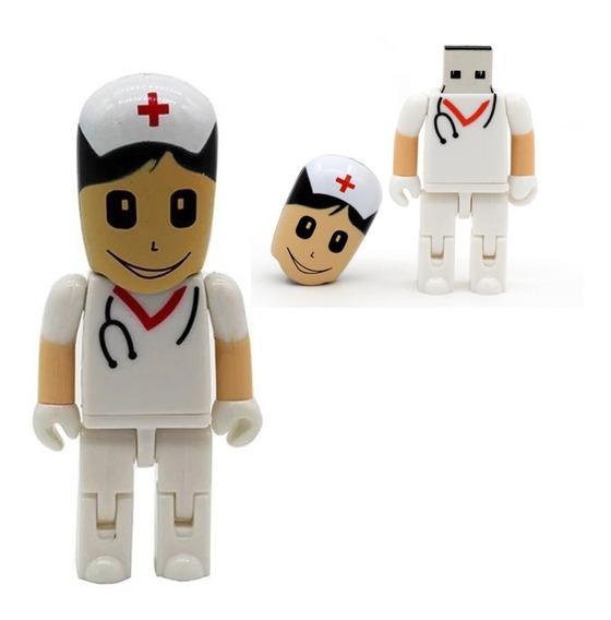 Pen Drive 32gb Enfermeira Presente Branca Saúde Frete Grátis