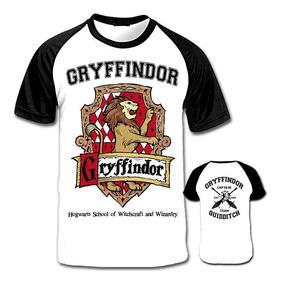 Camiseta Raglan Gryffindor Grifinória Harry Potter Casas