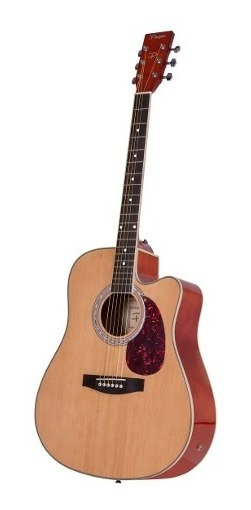 Guitarra Electroacústica Mystic Parquer Con Corte