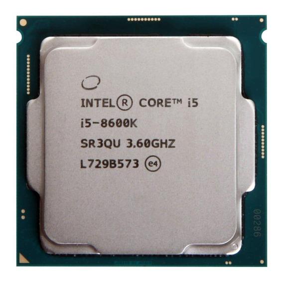 Processador gamer Intel Core i5-8600K BX80684I58600K de 6 núcleos e 4.3GHz de frequência com gráfica integrada