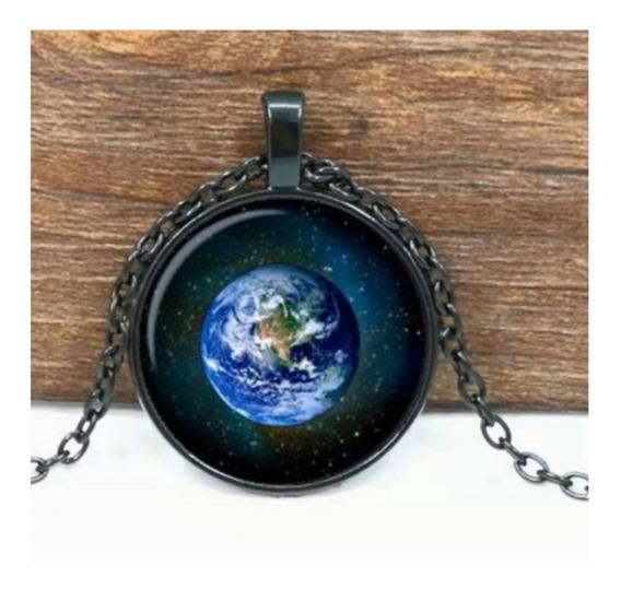 Colar Planeta Terra - Cordão E Pingente - Amazônia