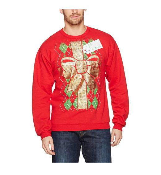 Hanes Ugly Sweater Christmas Navidad Rojo Talla Xl Regalo