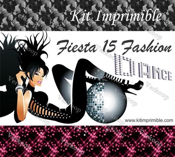 Kit Imprimible 15 Años Fashion Invitaciones Tarjetas