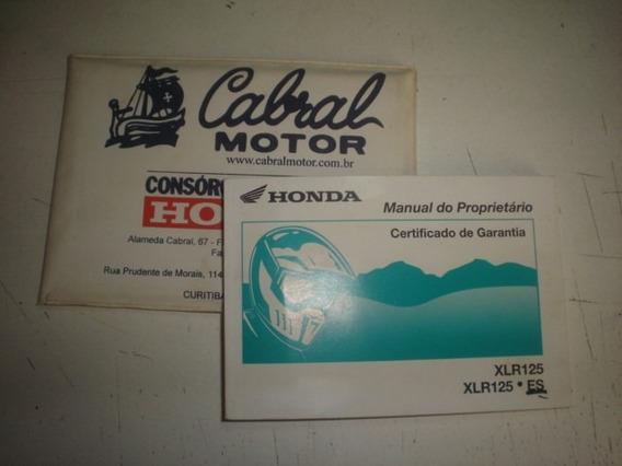Manual Moto Honda Xlr 125 Es 2001 2002 2003 2004 Original