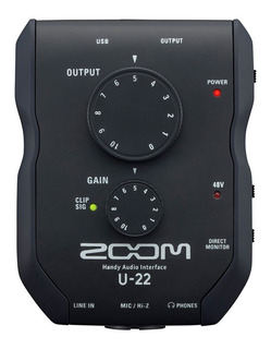 Interface De Audio Externa Zoom U22 Usb 2 In
