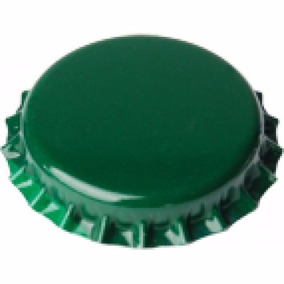 100 Tampinhas Verdes Tampa Cerveja Artesanal Pry-off