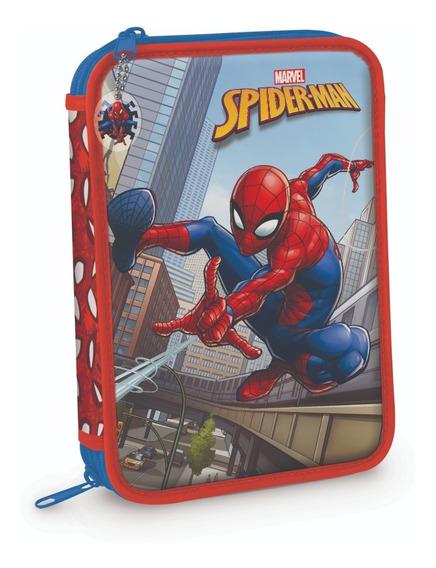 Cartuchera 2 Pisos Pvc Hombre Araña Spiderman Mundo Manias
