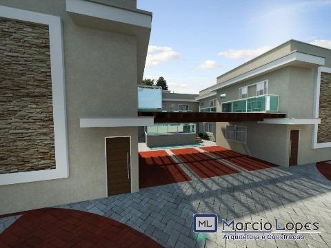 Sobrado Em Fase Final De Construção Para Venda Em Condomínio Horizontal No Pontal De Santa Marina Em Caraguatatuba/sp - Ca00499 - 32274346
