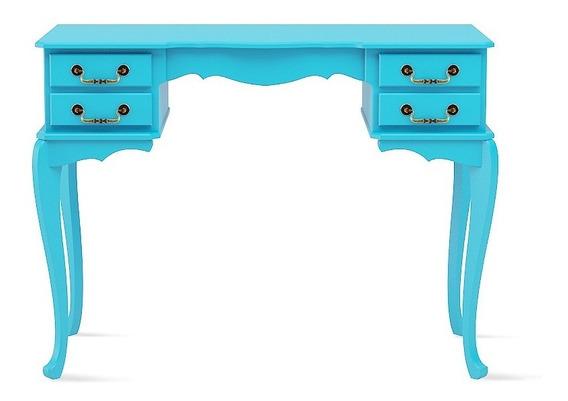 Escrivaninha Quarto Escritório Vintage Atz 143 Azul Turquesa