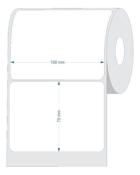 10 Rolos Etiqueta Couche 100x75 (mm) 10x7,5 Cm