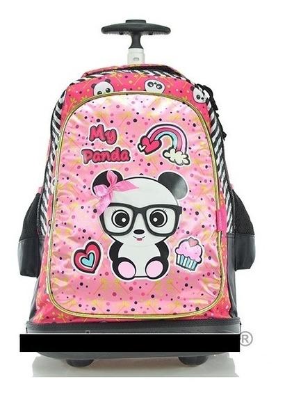 Kit Mochila My Panda Escolar Rodinha Infantil Menina Barato