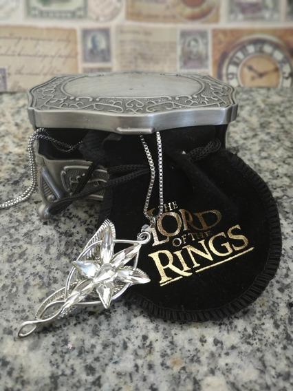 Colar Réplica Evenstar Arwen Senhor Dos Anéis + Box Usado