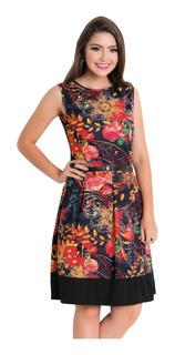 Vestidos Midi Moda Evangélica Kit Com 2 Blogueira Sem Mangas
