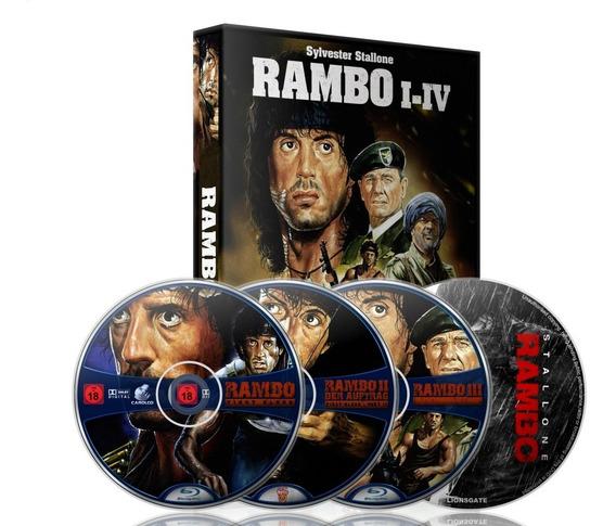Filme Rambo 1,2,3,4 Dublagem Classica Hebert Richards,leia!