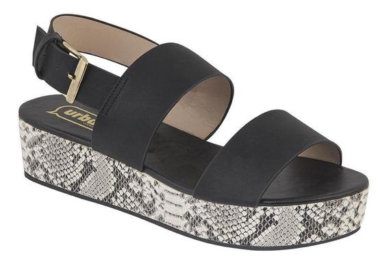 Calzado Sandalia Mujer Plataforma 4 Cm Animal Print Comodos