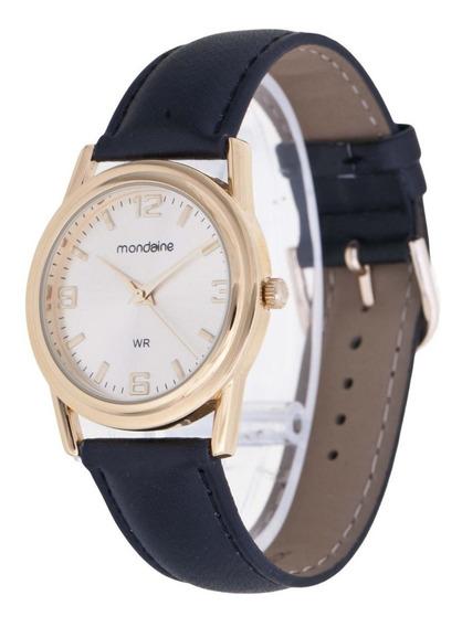Relógio Mondaine De Couro Dourado Unissex 83021gpmbdh1