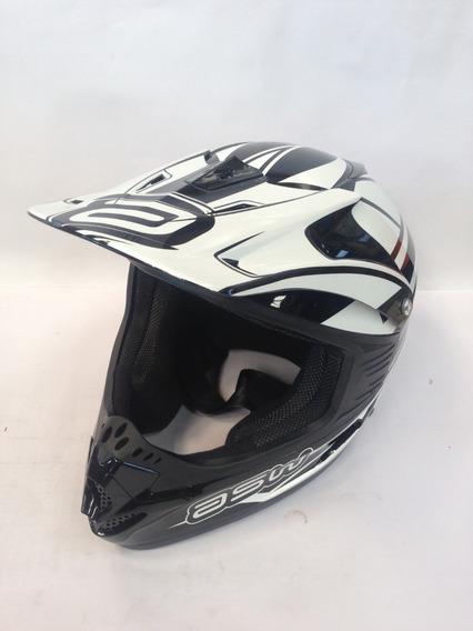 Capacete Motocross Asw Factory - Preto-nº58- C/ Inmetro + Nf