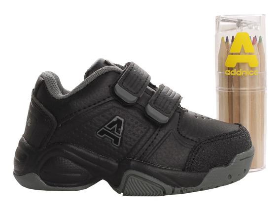 Zapatillas Addnice Baby Classic Beta Abrojo + Lapicero Ng/go