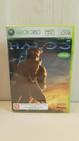 Halo 3 Xbox 360 - Novo Lacrado Totalmente Em Português