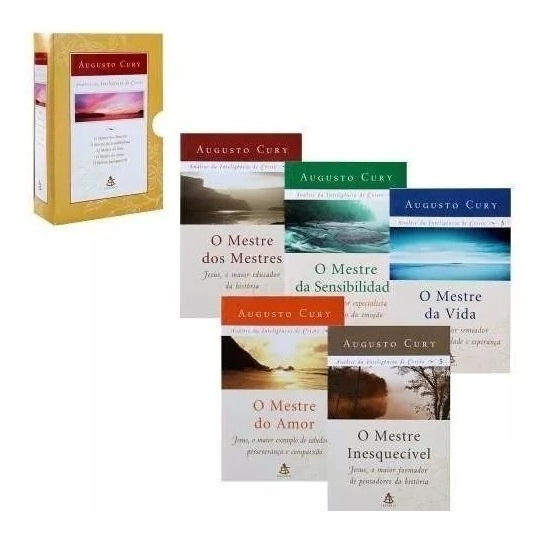 Box 5 Livros Análise Da Inteligência De Cristo, Augusto Cury