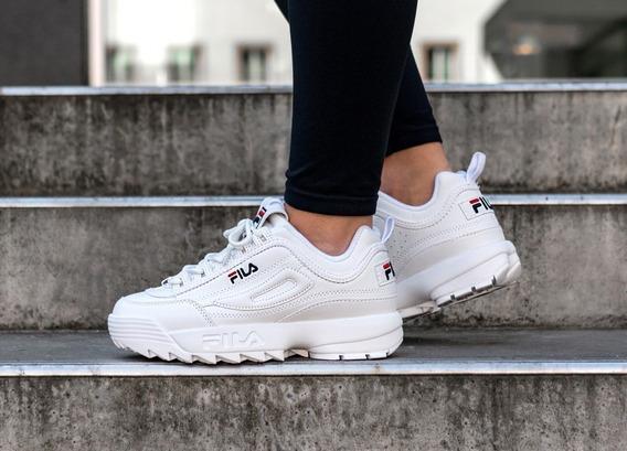 Zapatillas Fila Disruptor Blanca Para Mujer