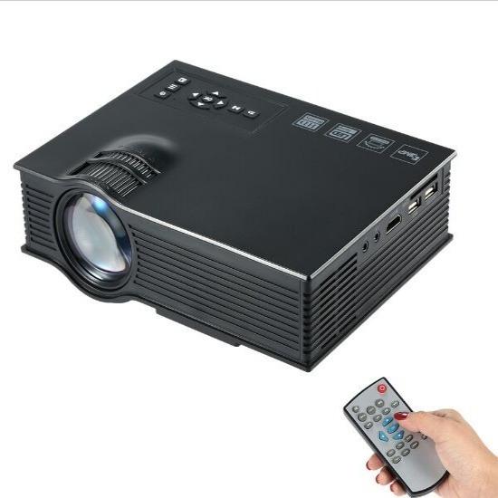 Mini Projetor Portatil Led Uc46 Wifi Conecta Celular 130 Pol