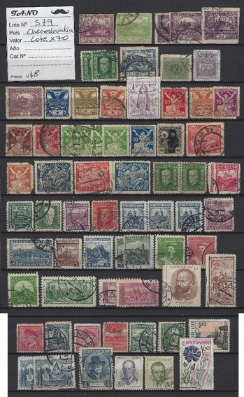 Lote579 Checoslovaquia Lote De 70 Estampillas Antiguas