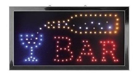 Letrero Con Luz Led Con Palabra Bar En Promocion Rebajado