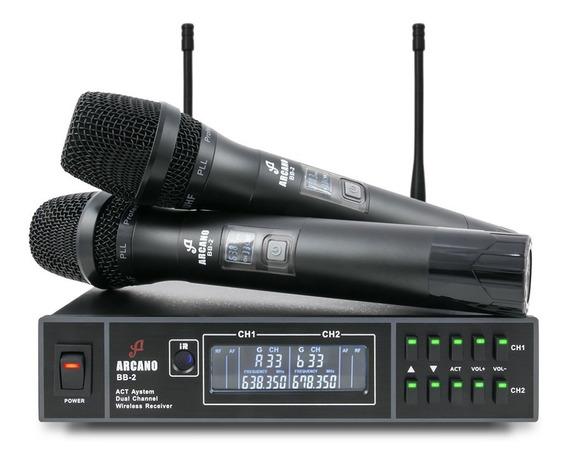 Microfone Sem Fio Duplo Arcano Bb-2 Uhf
