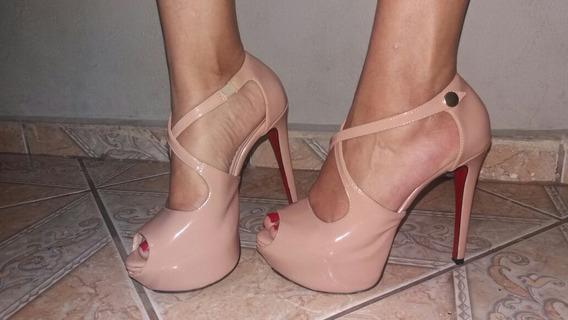 Sandália De Salto Alto Weekshoes Nude