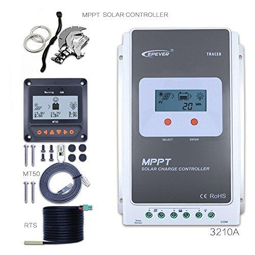 Epever Mppt 30a Controlador De Carga Solar 12v 390w A 24v
