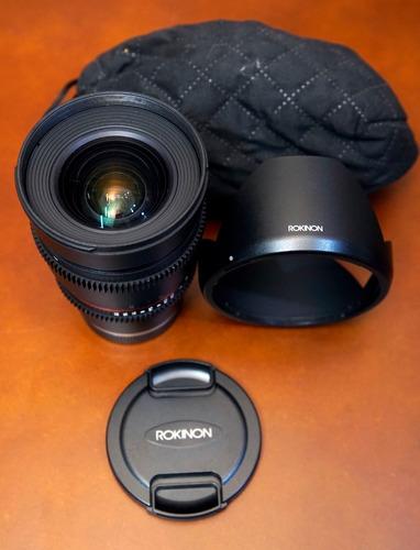 Lente Cine Rokinon 16mm 2.2 - E-mount (para Sony)