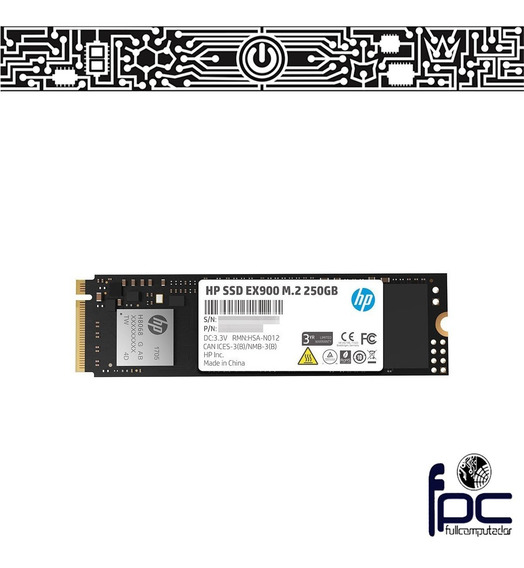 Fpc Disco M.2 Nvme Ssd Hp Ex900 250gb 2100mb/s. Incl Iva