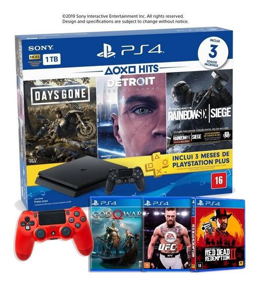 Console Playstation 4 Slim 1tb Hits Bundle 6 Jogos - Ps4